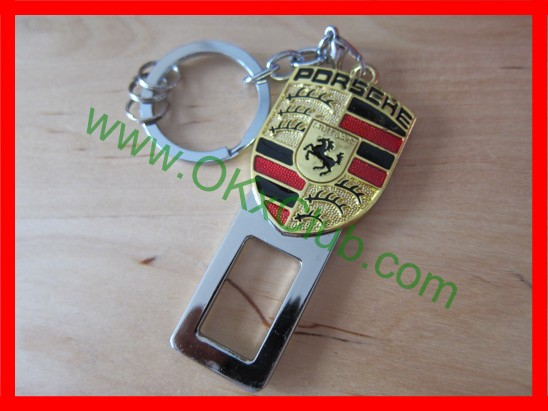 PORSCHE Emblem Seat Belt Buckle Alarm Safety Key Ring - $7.49 ... on batman logo belt, bmw logo belt, mercedes benz logo belt, lamborghini logo belt, porsche design belt, subaru logo belt, porsche design sneakers, porsche martini racing belt, porsche black belt,