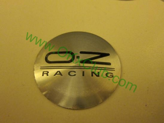 4 x Japan oz Racing Sliver Wheel Center Caps Hub Caps Decal Sticker 56 5mm